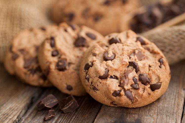 Ilustrasi chocolate chip cookie