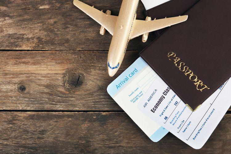 ILUSTRASI - Boarding pass, paspor, kartu imigrasi