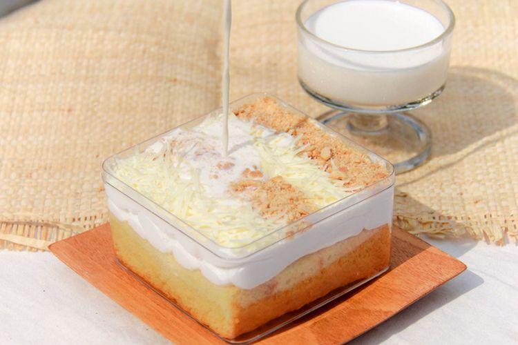 ilustrasi milk bath cake.