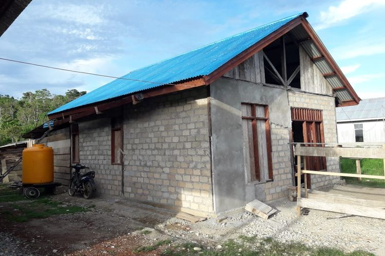 Salah satu pembangunan rumah dari hasil program BSPS di Provinsi Sulawesi Barat.