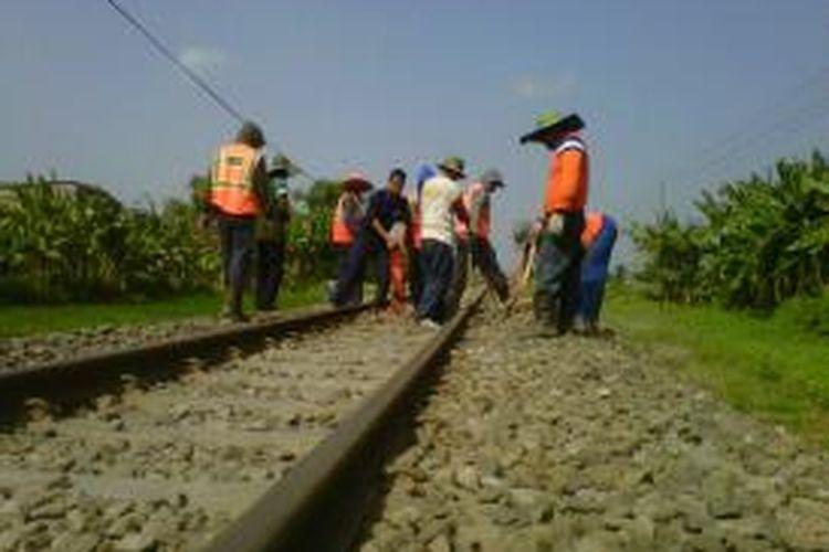 Ilustrasi: pembangunan jalur kereta api