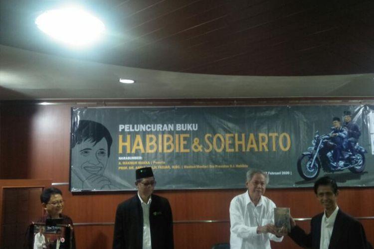 Acara Peluncuran Buku Habibie dan Soeharto di The Habibie Center, Jakarta Selatan, Senin (17/2/2020)