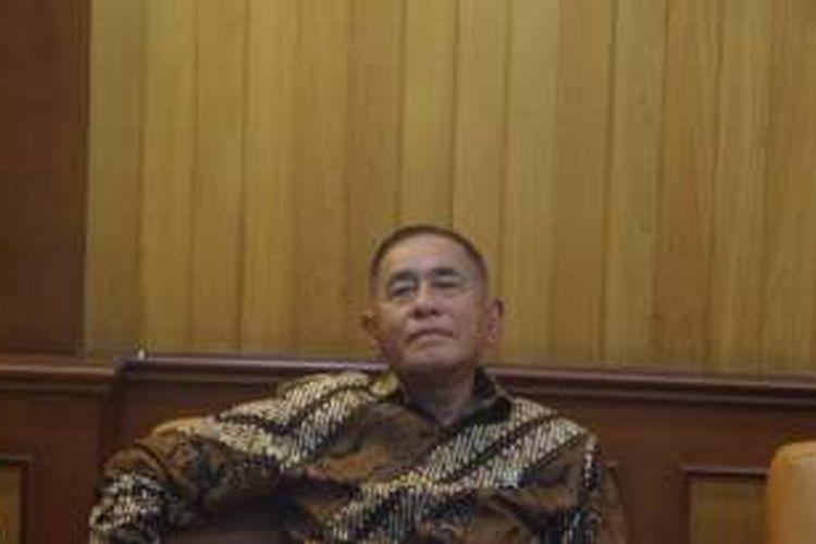 Menteri Pertahanan Ryamizard Ryacudu di Kantor Kementerian Pertahanan, Jalan Medan Merdeka Barat, Jakarta Pusat, Jumat (13/5/2016)
