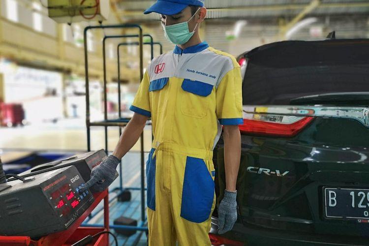 Uji emisi gratis di diler Honda yang ada di DKI