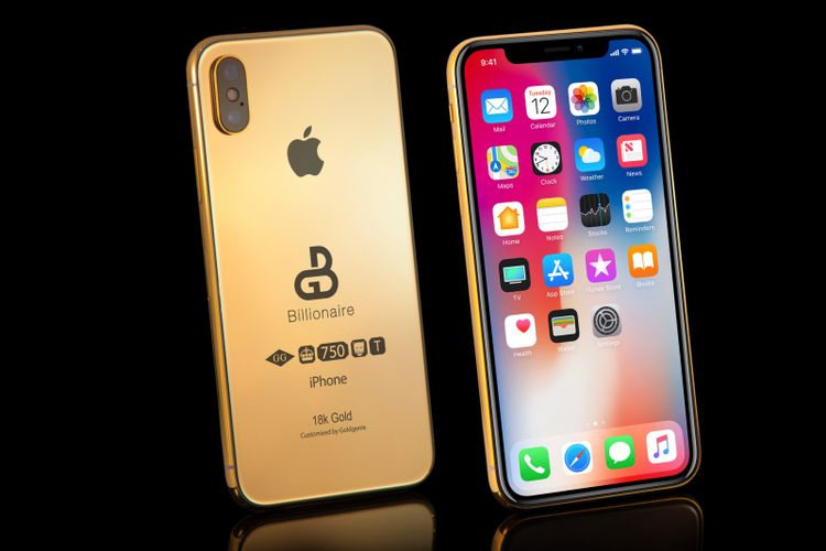 iPhone 2018 yang dilapisi emas 18 karat