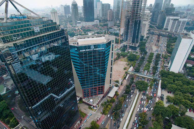 Gedung Bank BRI di Jakarta
