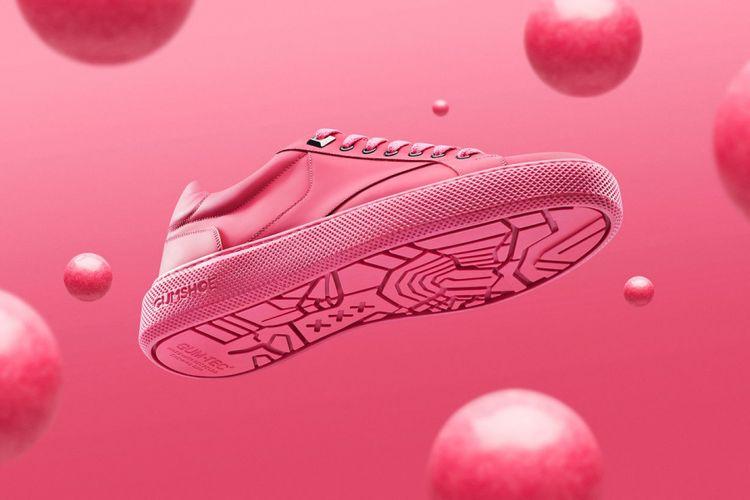 Gumshoe, sepatu kets yang terbuat dari permen karet daur ulang