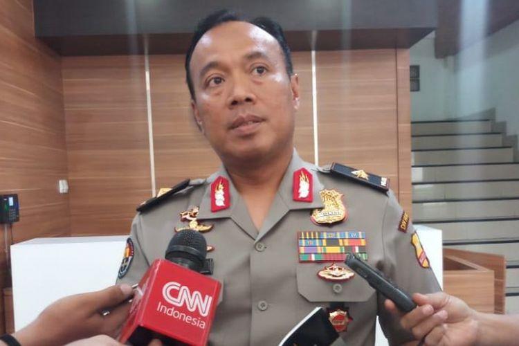 Kepala Biro Penerangan Masyarakat (Karo Penmas) Divisi Humas Polri Brigadir Jenderal Dedi Prasetyo di Gedung Humas Markas Besar Polri, Jakarta Selatan, Selasa (4/9/218).