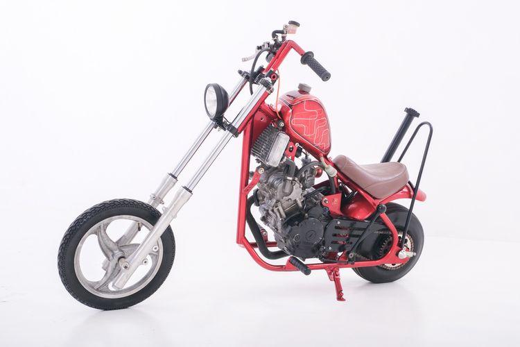Motor custom Yamaha Jupiter MX bergaya mini chopper garapan Wbike Custom Garage
