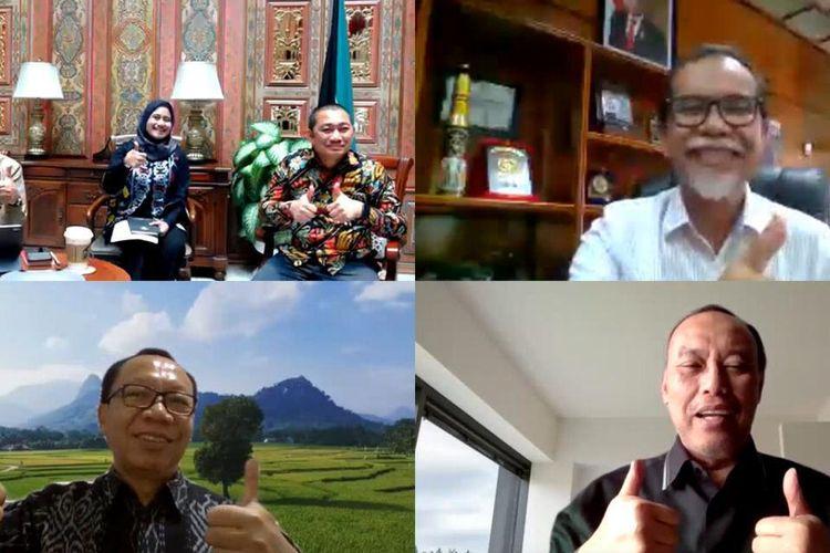 Virtual meeting M-Teams  Perta Arun Gas bersama Kedutaan Besar Republik Indonesia (KBRI) Kuwait guna membahas rencana ini, Kamis (16/7/2020).