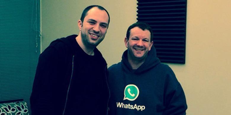 Duet pendiri WhatsApp Jan Koum (kiri) dan Brian Acton
