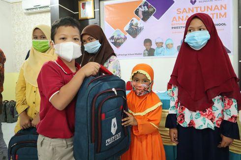 Semangat Ramadhan Berbagi, Prestige School Medan Beri Santunan Anak Yatim