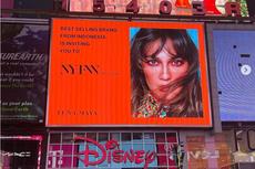 Jelang NYFW, Wajah Luna Maya Terpampang di Times Square New York