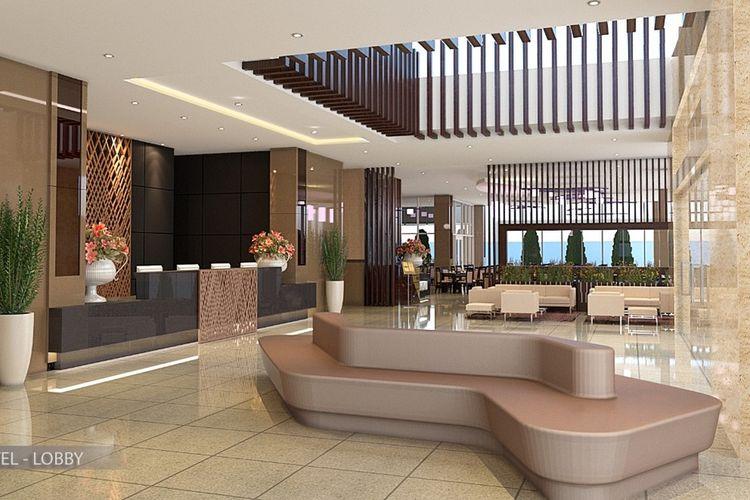 Tampilan disain hotel Parkside Gayo Petro di Jalan Sengeda Nunang Antara, Kecamatan Bebesan, Kabupaten Aceh Tengah