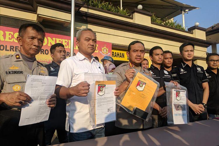 Kapolres Metro Jakarta Utara Kombes Budhi Herdi Susianto di kantornya Kamis (11/7/2019)
