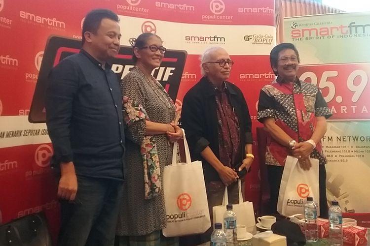 Talkshow Perspektif Indonesia membahas pro-kontra nonton bareng film Pengkhianatan G30S PKI, Jakarta, Sabtu (23/9/2017).