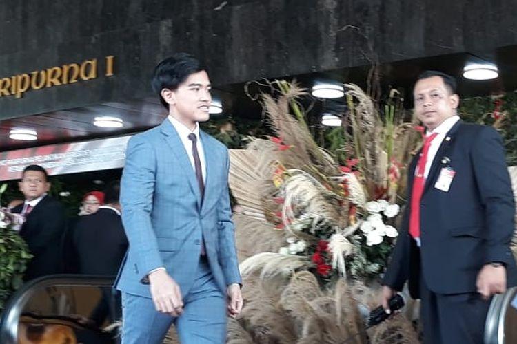 Putra Presiden Joko Widodo, Kaesang Pangarep hadir di pelantikan Joko Widodo-Maruf Amin pada Minggu (20/10/2019).