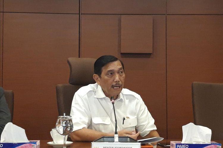 Menteri Koordinator Bidang Kemaritiman Luhut Binsar Pandjaitan di Jakarta, Selasa (2/7/2019).