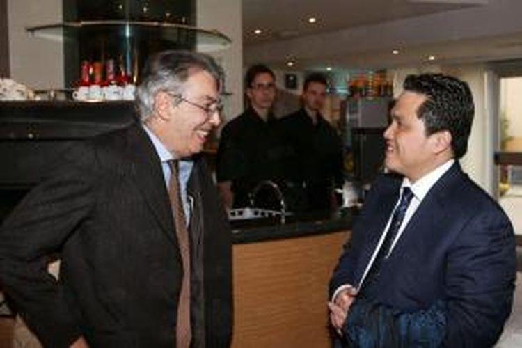 Erick Thohir dan Massimo Moratti