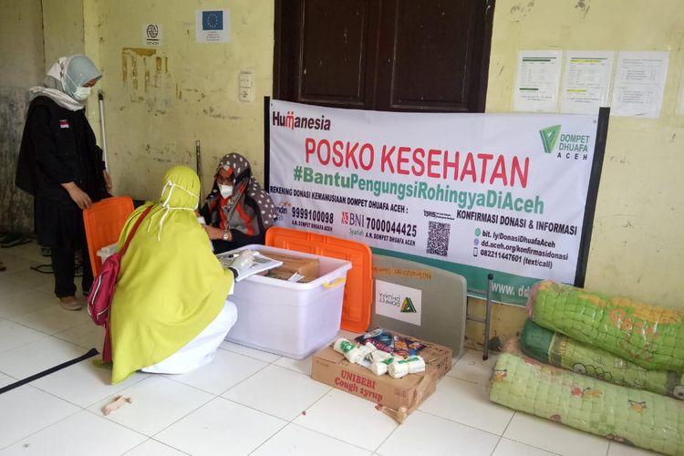 Tim Dompet Dhuafa cabang Aceh, berkolaborasi dengan sejumlah lembaga dan relawan lainnya, turut merespon bantuan untuk pengungsi Rohingya yang terdampar di Aceh Utara.