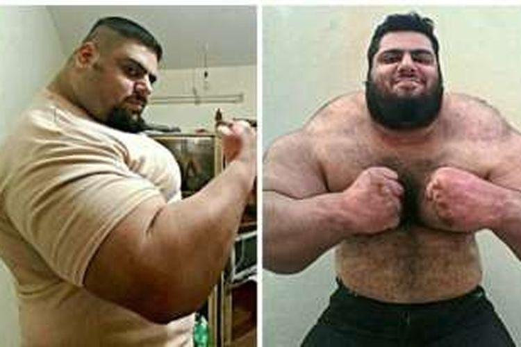 Sajad Gharibi yang dikenal sebagai Hercules Persia, siap melawan kelompok militan ISIS di Suriah