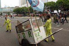 22,5 Ton Sampah Buruh di Ibu Kota