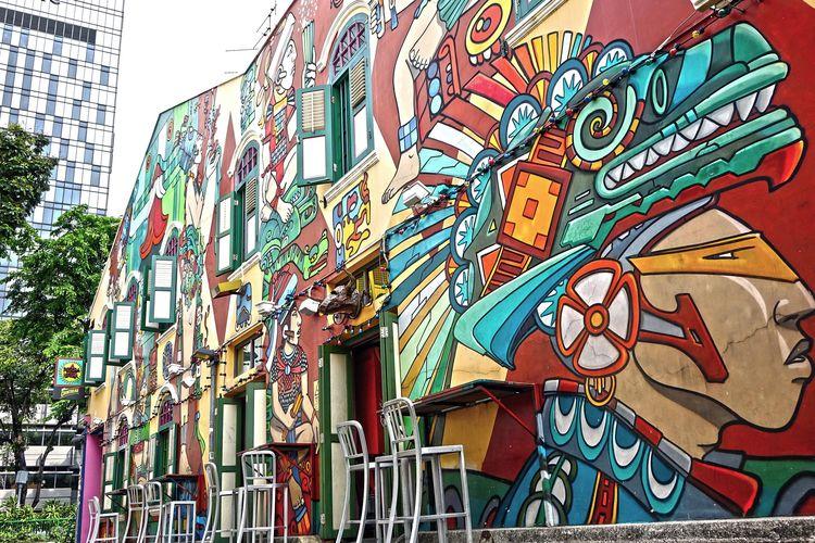 Mural di Singapura