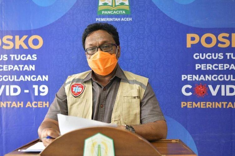 Juru Bicara  Percepatan Penanganan Kasus Covid-19 di Aceh Saifullah Abdulgani.