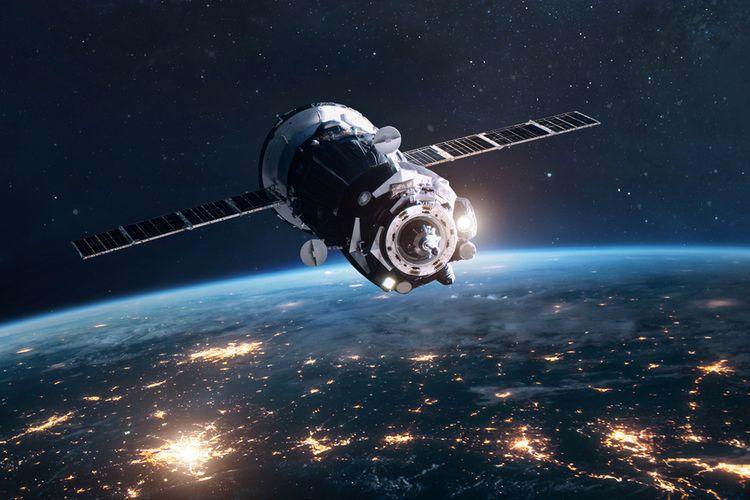 Ilustrasi pesawat kargo luar angkasa