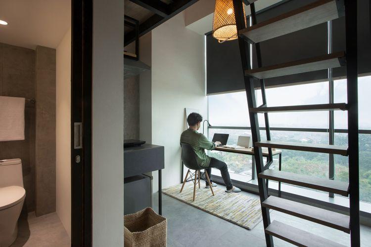 Ruang belajar co-living Cove Hillcrist