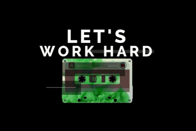 Cover singel Let's Work Hard dari The Bassura House