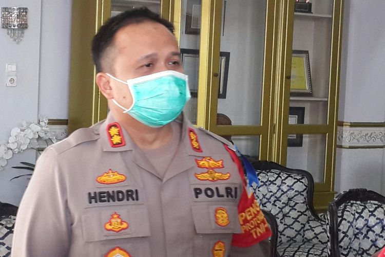 Kapolres Malang, AKBP Hendri Umar saat diwawancara di Pendopo Agung Kabupaten Malang, Kamis (30/7/2020).