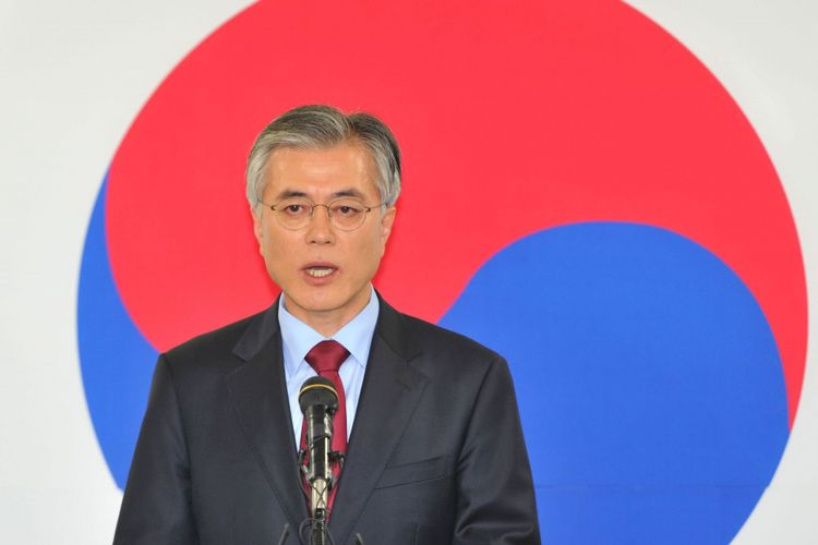 Kandidat Presiden Korea Selatan (Korsel) Moon Jae-In.