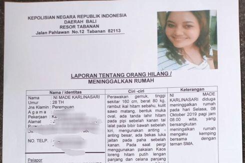 Kasus Ibu Muda Dilaporkan Hilang Usai Pamit Kerja, Akun Medsos Dihapus hingga Polisi Bantah Diculik