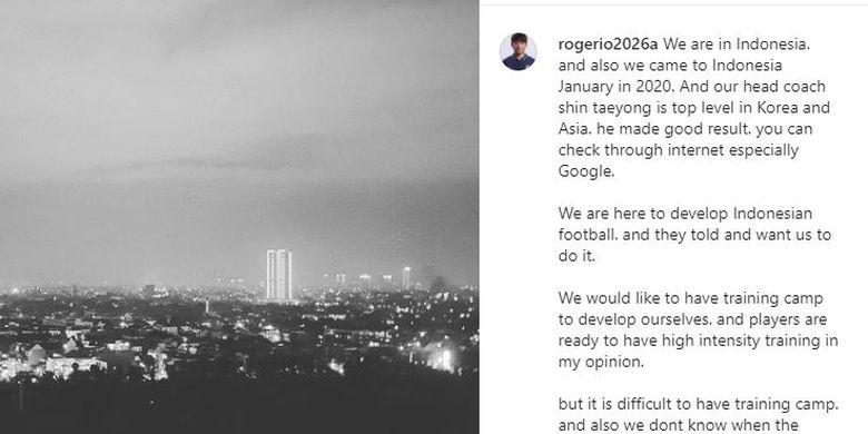 Unggahan di akun Instagram milik Lee Jae-hong. Sumber foto: Tangkapan layar Instagram: rogerio2026a.