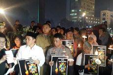 Seribu Lilin untuk Angeline di Bundaran Hotel Indonesia