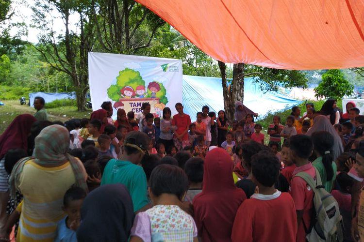 Hilangkan Trauma Korban Gempa di Ambon, Dompet Dhuafa Dirikan Pos Hangat dan Taman Ceria