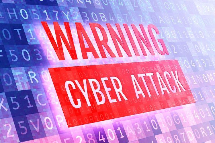 Ilustrasi serangan siber.