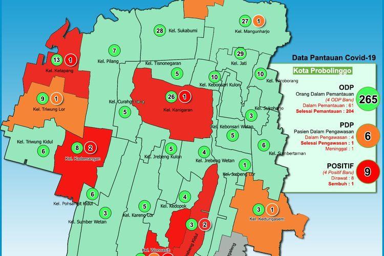 Update kasus Covid-19 terbaru Kota Probolinggo. Pasien positif jadi sembilan orang.
