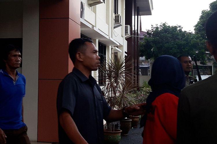 Terdakwa utama kasus pembunuhan Dufi usai dilakukan sidang lanjutan di PN Cibinong, Kabupaten Bogor, Selasa (2/4/2019).