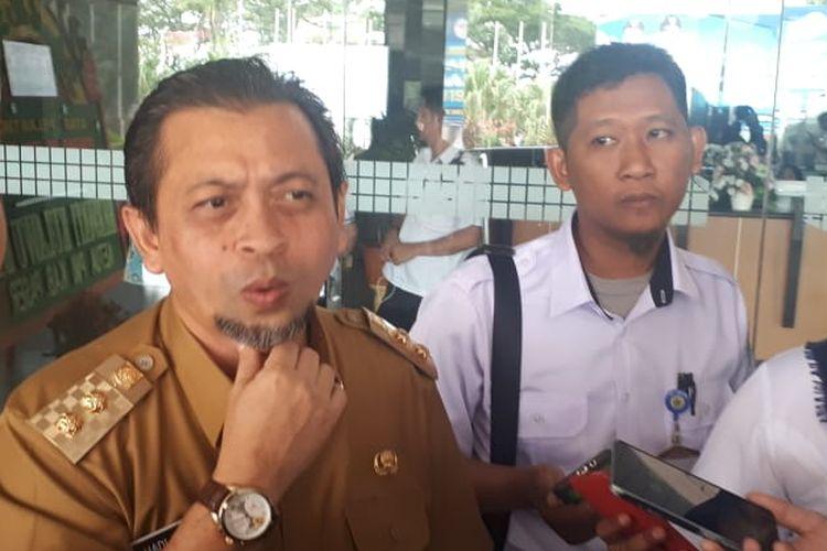 Wakil Gubernur Kalimantan Timur Hadi Mulyadi saat diwawancari terkait Ibu Kota baru.