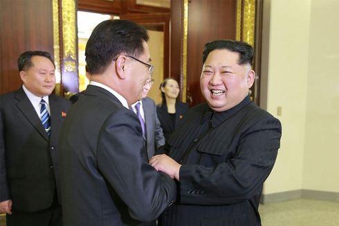 Senyum dan Tawa Kim Jong Un Saat Menyambut Petinggi Korea Selatan