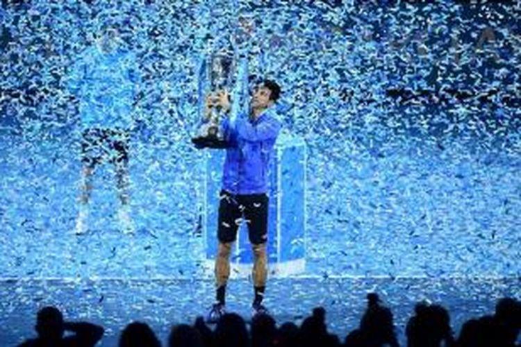 Novak Djokovic menjuarai ATP World Tour Finals 2015, Minggu (22/11/2015).