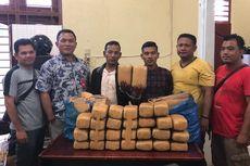 Ditangkap, 2 Pria Bawa 28 Kg Ganja Kering dari Aceh ke Bengkulu