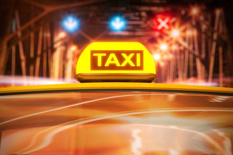 Ilustrasi sopir taksi.