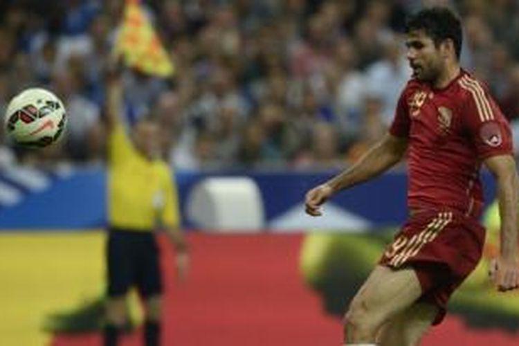 Striker tim nasional Spanyol, Diego Costa.