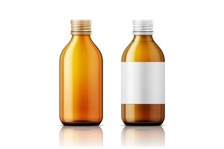 Ilustrasi botol obat