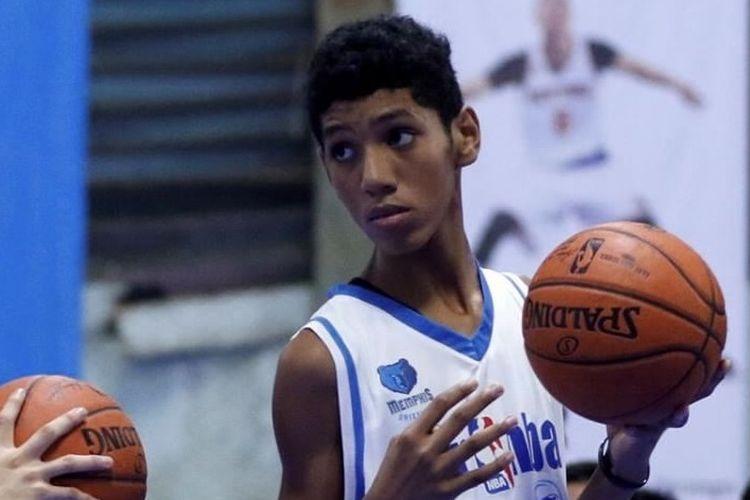 Derrick Michael Xzavierro saat mengikuti Junior NBA di Indonesia pada 2017.