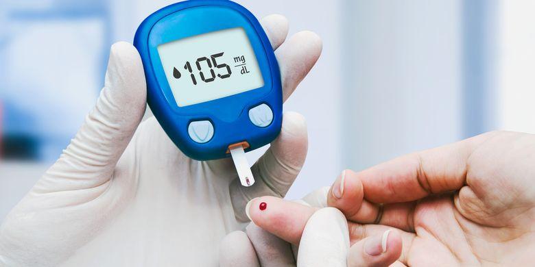 Ilustrasi tes darah, diabetes