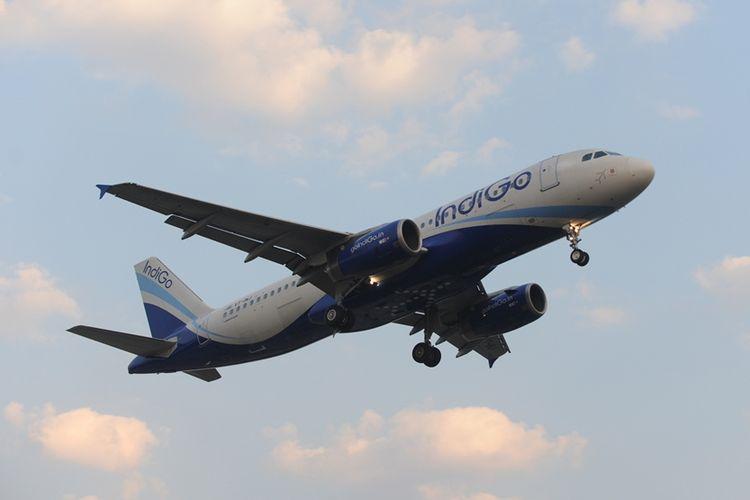 Pesawat milik maskapai penerbangan IndiGo.
